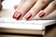 Free Fingers With Red Nail Stock Images - 4446384