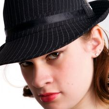 Free Teen In Fedora Stock Photography - 4446612