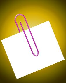 Free Paperclip With Note 20 Stock Photography - 4446632