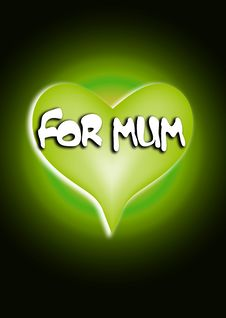Free For Mum Heart 1 Stock Image - 4446911