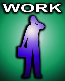 Free Working Business Man Outline 14 Stock Photo - 4446920