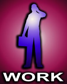 Free Working Business Man Outline 2 Stock Photos - 4446923