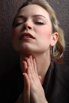 Free Woman Praying Stock Image - 4447021