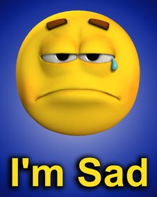 Word Of Sadness 2 Stock Photography