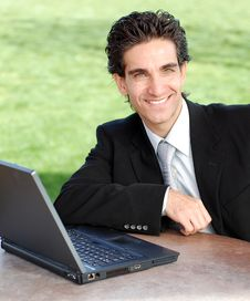 Free Smiling Businessman Royalty Free Stock Photography - 4447067