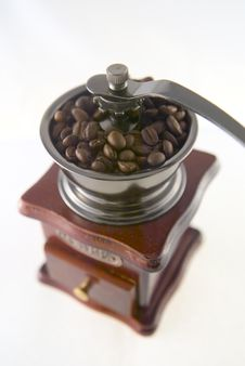 Free Coffee In Grinder Royalty Free Stock Image - 4447676