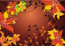 Free Autumn Floral Background Stock Photography - 4448402