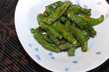 Free Japanese Green Peppers Royalty Free Stock Images - 4448549