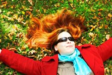 Free Girl On The Grass Stock Photography - 4449852