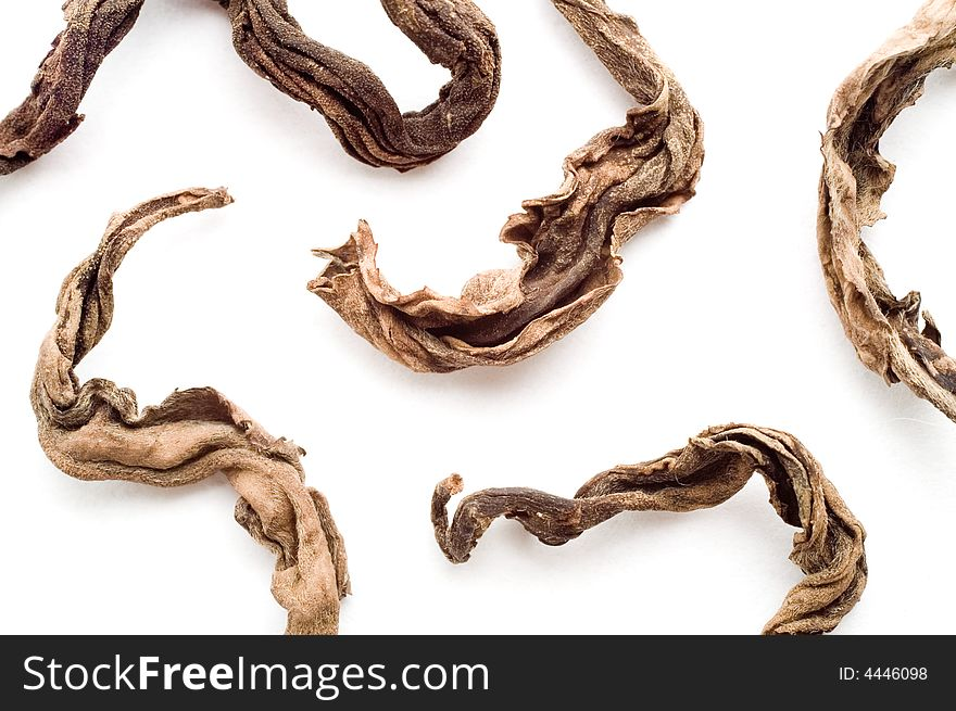 Dried leaves of black tea