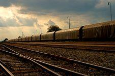Cargo Train Royalty Free Stock Photos