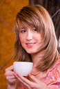 Free Young Woman With Cup Stock Images - 4451634