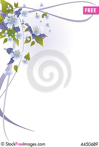 Free Abstract Floral Background Royalty Free Stock Images - 4450689