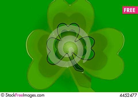 Green Clover Shamrock Background For St Patricks D Free Stock Photos