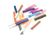 Free Some Soft-tip Pen On White Isolated Background Royalty Free Stock Photography - 4451247