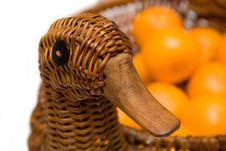 Free Mandarines On Tray Like Goose Isolated Stock Photos - 4451263