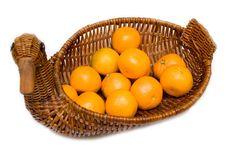 Free Mandarines On Tray Like Goose Isolated Stock Photos - 4451283