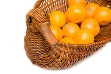 Free Mandarines On Tray Like Goose Isolated Stock Images - 4451284