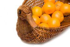 Free Mandarines On Tray Like Goose Isolated Royalty Free Stock Photo - 4451285