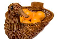 Free Mandarines On Tray Like Goose Isolated Stock Image - 4451331