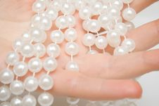 Free Pearls On Woman Hand Stock Images - 4451364