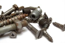 Rusty Screw Stock Photography