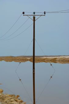 Free Electric Power Pole Stock Photography - 4451592