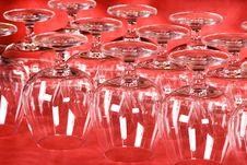 Free Empty Wine Glasses Stock Image - 4451761