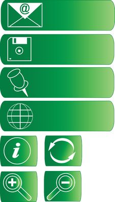 Free Green Web Buttons Royalty Free Stock Photos - 4452348