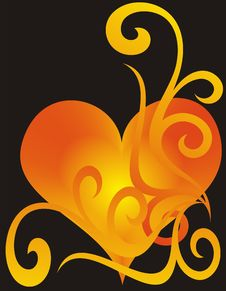 Free Heart On Black Background Royalty Free Stock Photography - 4452367