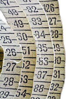 Free Old Measuring Tape Royalty Free Stock Image - 4452396