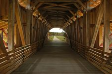 Indide Covered Bridge Stock Photo
