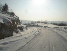 Road To Snow Mountain Stock Photo