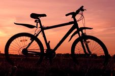 Free Bicycle Silhouette Stock Image - 4452981