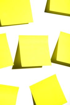 Free Sticky Notes On White Royalty Free Stock Image - 4453056