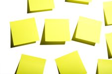 Free Sticky Notes On White Royalty Free Stock Photography - 4453077