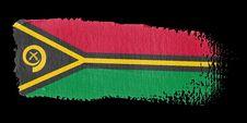 Brushstroke Flag Vanuatu Stock Images
