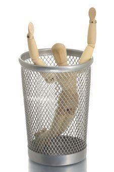 Free Mesh Trash Bin With Manikin Inside Stock Image - 4453971