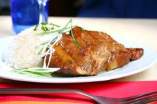 Free Pork Spare Ribs With Rice Stock Image - 4454041