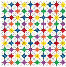 Rainbow Argyle Stars Stock Photos