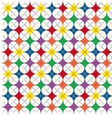 Free Rainbow Argyle Stars Stock Photos - 4454043