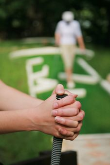 Game In A Golf Royalty Free Stock Image