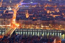 Free Old Lyon At Night Stock Photo - 4454840