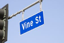 Free Vine Street Sign In Los Angeles Stock Photos - 4455053