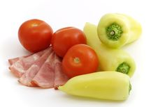 Cured Meat With Vegetables Stock Images