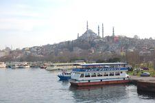 Suleymaniye Mosque Golden Horn Stock Photography