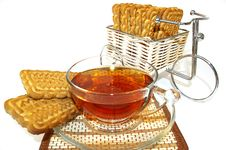Free Bicycle, Cookies And A Cup Of Tea Royalty Free Stock Image - 4458526