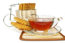 Free Bicycle, Cookies And A Cup Of Tea Stock Image - 4458811