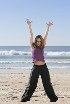 Free Woman Stretching Royalty Free Stock Photography - 4458917