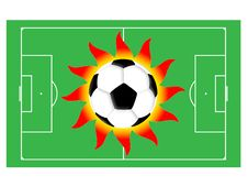 Football Sun Royalty Free Stock Image